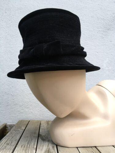 Vtg 1930's OTTO LUCAS JUNIOR Black hat Medium Buck