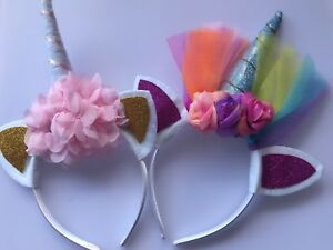 Kids-Children-Girls-Unicorn-Horn-Pony-Costume-Birthday-Party-Hair-Head-band-PROP