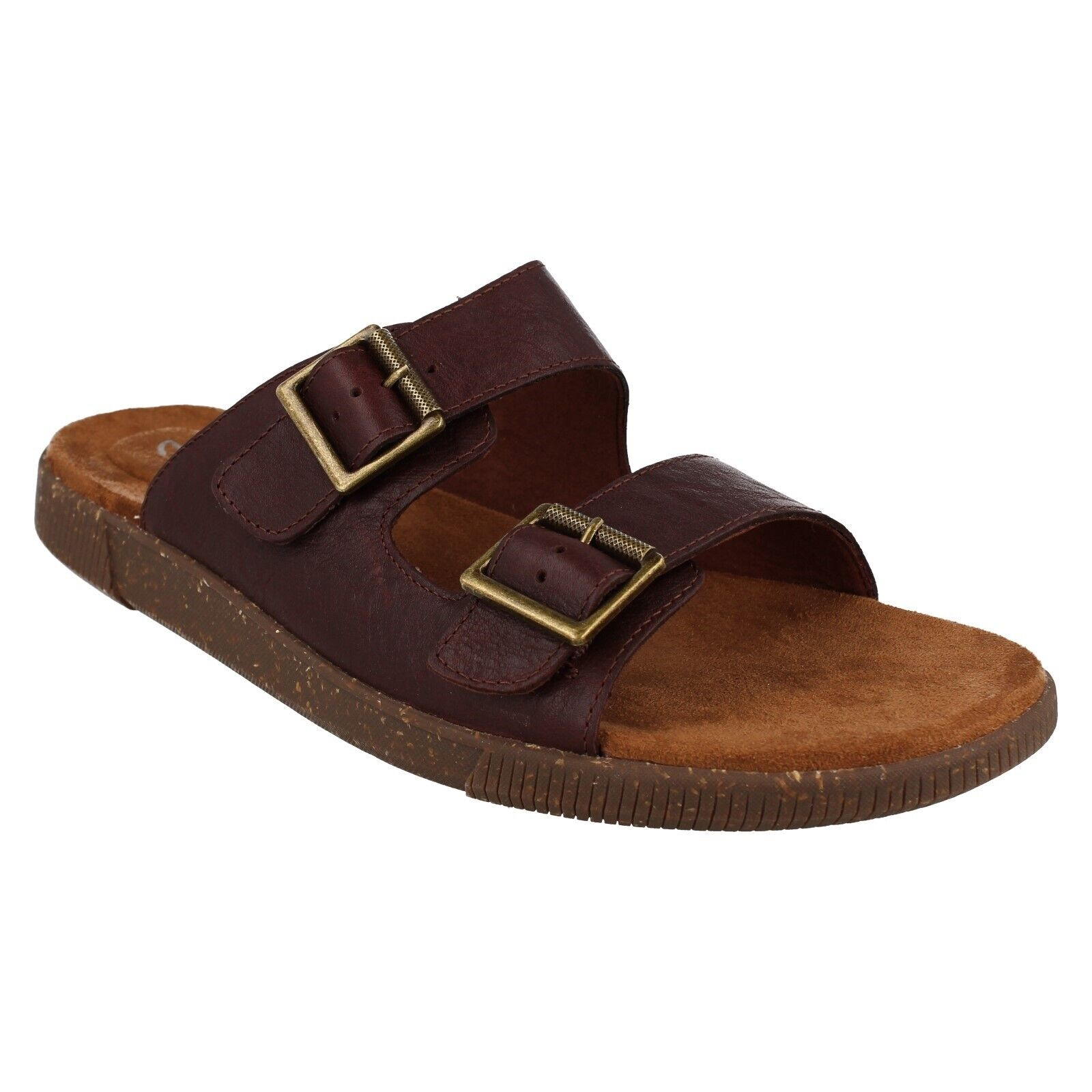 VINE CEDAR MENS CLARKS LEATHER SLIP ON CASUAL OPEN TOE SUMMER BUCKLE SANDALS