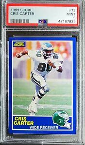 1989-Score-Cris-Carter-RC-PSA-9-Mint-HOF-Eagles-Vikings-Great-Nice-Card