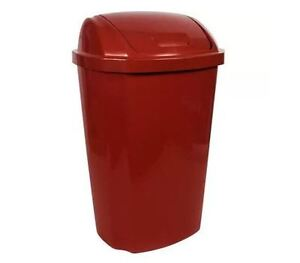Hefty 13 5 Gallon Swinging Lid Wastebasket Garbage Can