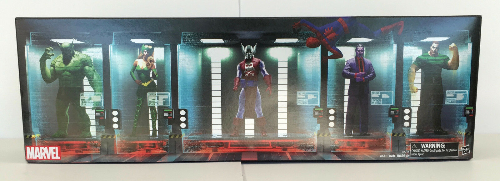 2016 HASBRO COMIC-CON EXCLUSIVE MARVEL THE RAFT WITH SPIDER-MAN & 5 VILLAINS MIB