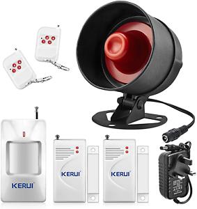 hangar Alarme UP La plus récente Kerui autonome Home shop Sécurité Alarme Garage Alarme
