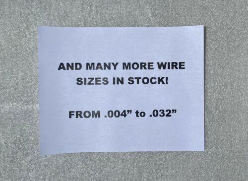 "Size .009/"" .22 mm Beryllium Copper Spring Wire C17200 SIZE 15 FEET"