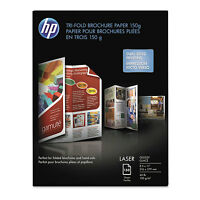 Hp Tri-fold Laser Brochure Paper 97 Brightness 40lb 8-1/2 X 11 White 150 /pack on sale