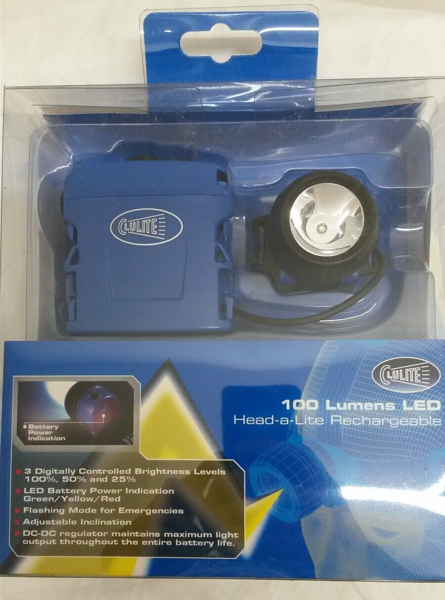 Clulite HL10  Head-A-Lite Rechargeable Head 3 watt 30 meter beam COB Torch  authentic quality