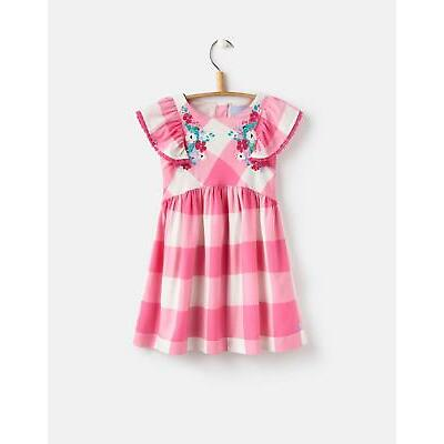Joules Emeline Woven Dress in Shelby Gingham Pink
