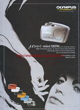 Olympus Mini Digital Camera 2005 Magazine Advert #2461