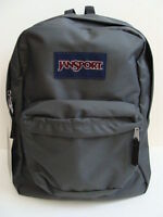 Jansport Gray Superbreak Backpack Book Bag School Pack Boy Girls Padded