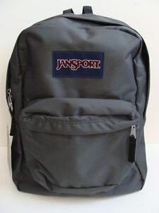 2b45a0ebdbfb Image is loading NWT-JANSPORT-Gray-SuperBreak-Backpack-Book-Bag-School-.  JANSPORT Superbreak Backpack Bookbag Black Boys Girls ...