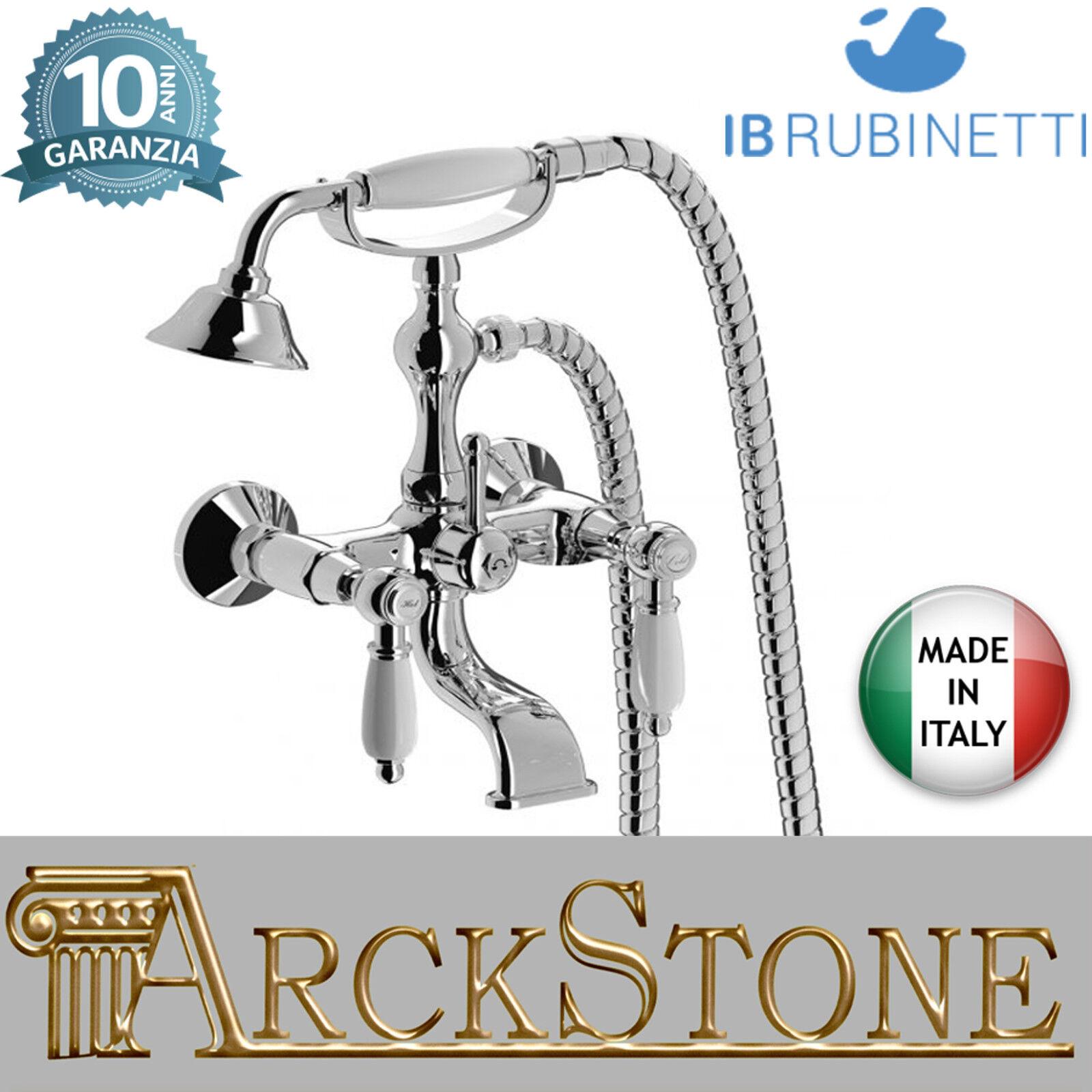 Miscelatore gruppo vasca esterno a parete kit doccia IB rubinetti Hermes Elle