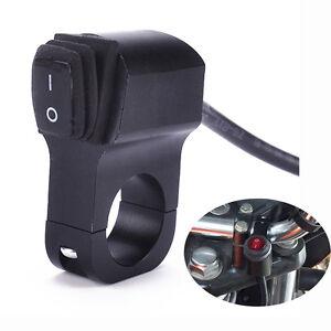 Neu-Motorrad-Wasserdichte-Lenker-Scheinwerfer-Nebel-Licht-On-Off-Schalter-aus-DE