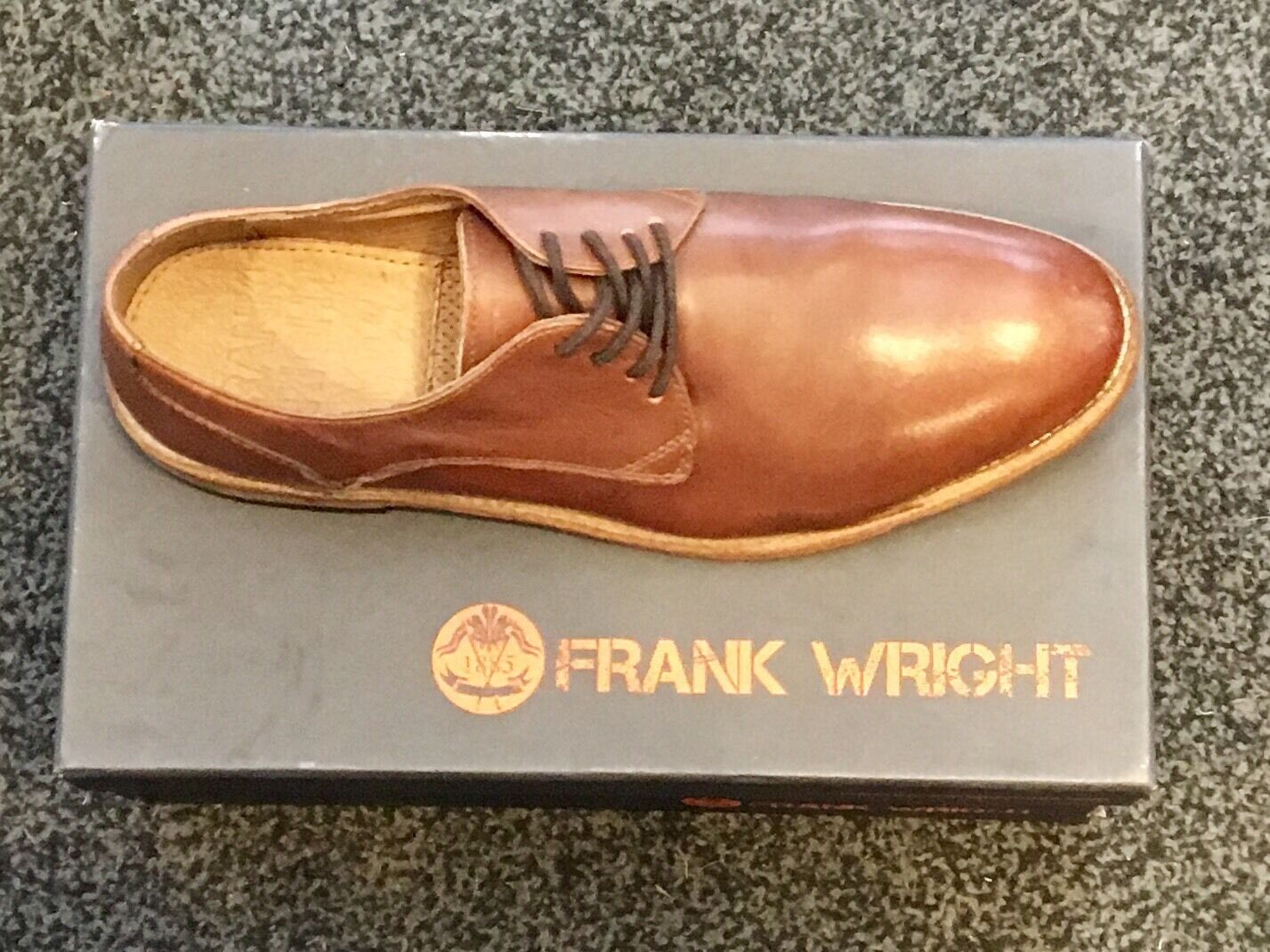 FRANK WRIGHT Mens shoes. 11 45. tan. Brand New .Leather Sole.Solid pair of shoes