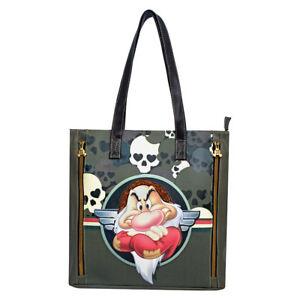Borsa-Shopper-tracolla-Donna-Disney-Sette-Nani-Teschi-Brontolo-Handbag-33x37x10