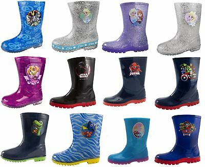 Girls Boys Character Wellington Boots Snow Wellies Wellys Childrens Kids School