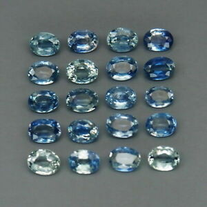 4-27-Carats-20pcs-Lot-4x3mm-Natural-Blue-SAPPHIRE-Oval-for-Jewelry-Setting