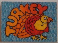 "VINTAGE 1970 IRON-ON MINI IRON-ONICS ""TURKEY"" CRACKER JACK PRIZE TOY"