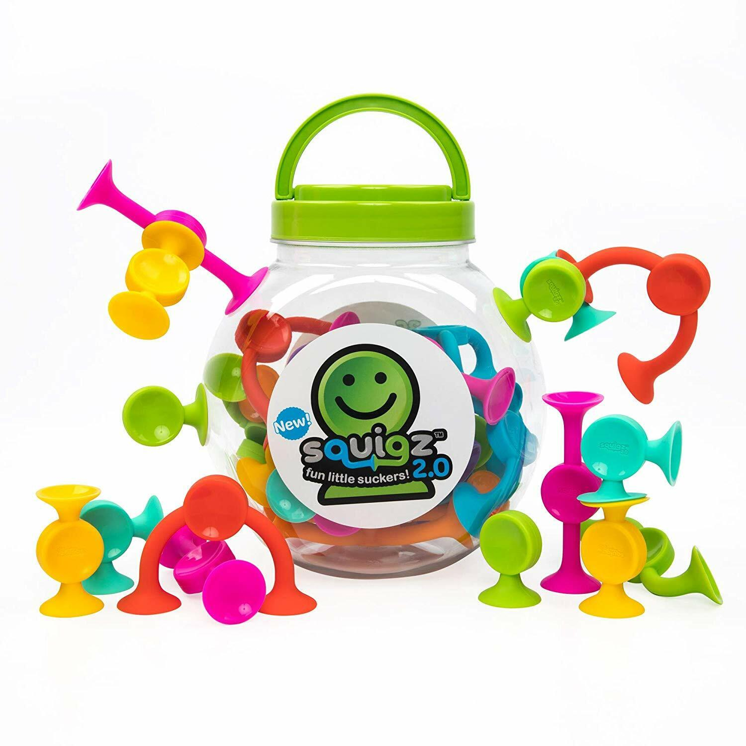 Fat Brain Toys Squigz 2.0 - 36 Piece Set New - Encourages fine motor skills