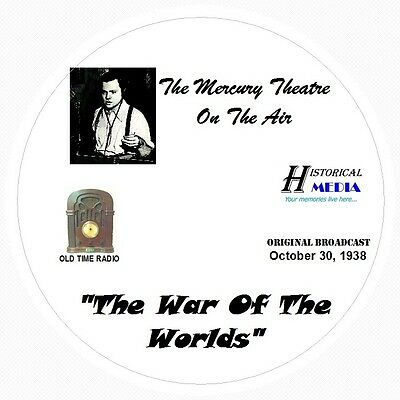 WAR OF THE WORLDS (WITH A 13 PAGE SCRIPT) - Old Time Radio OTR On 1 Audio CD
