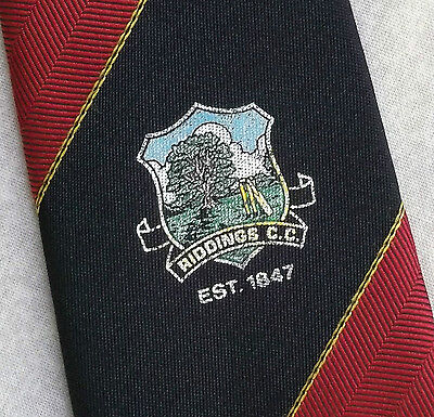 Diplomatico Vintage Cricket Cravatta Da Uomo Cravatta Retro Riddings Cc-mostra Il Titolo Originale Buona Conservazione Del Calore