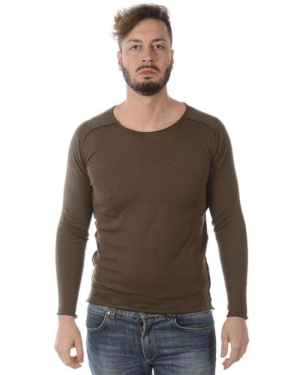 Maglia Daniele Alessandrini Sweater P/E Cotone  Herren Verde FM911263702 142