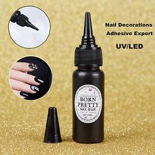 BORN PRETTY 25ml Nail Art Decoration Adhesive Glue Fast-dry UV/LED Manicure Tool