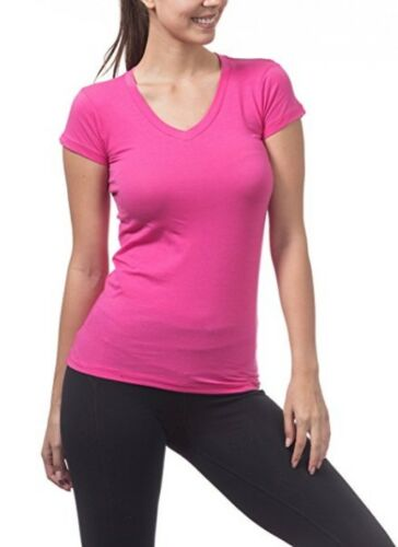 Women's Premium   Basic Short Sleeve  T Shirt  V Neck  Shirt S-3XL