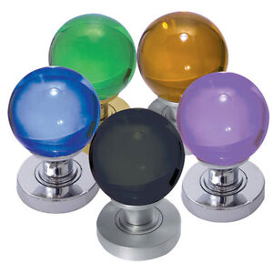 Coloured Glass Mortice Knobs - Interior Glass Knobs Various Finishes ...