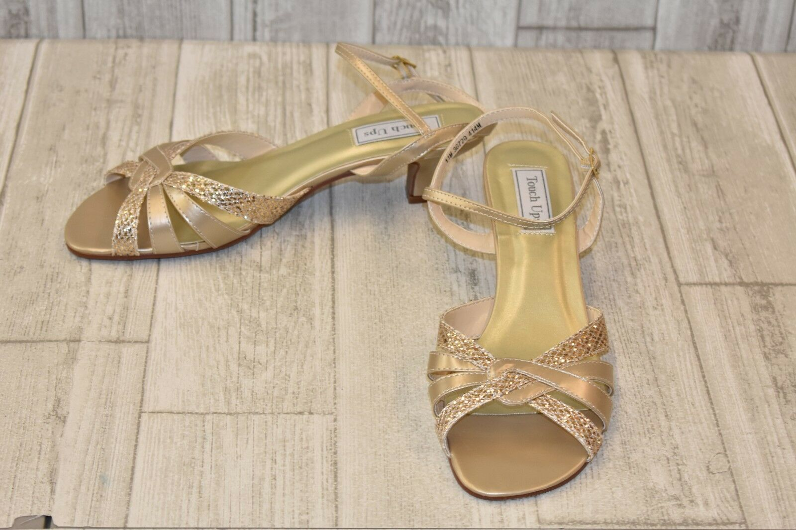 Touch Ups Jane Ankle-Strap Sandal - Women's Size 11M gold