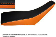 BLACK & ORANGE CUSTOM FITS KTM 950 SM 05-13 DUAL LEATHER SEAT COVER