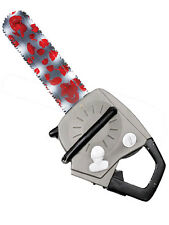 Jumbo Chainsaw Blood Stained Zombie Fancy Dress Prop Novelty Halloween Accessory