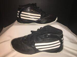 98361e9e7f8 Adidas Men s Black and White Hi Top Basketball Shoes Size 10
