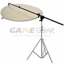 Photo Studio Light Panel Reflector Arm Holder with Grip Swivel Head Holder Clamp