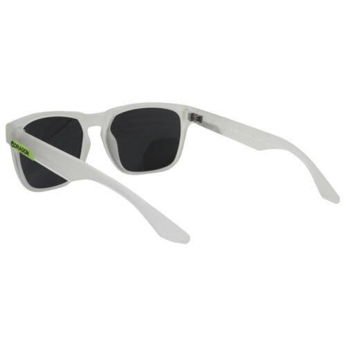Dragon MONARCH Sunglasses Matte Crystal Frame with Smoke Lens DR 513S-971