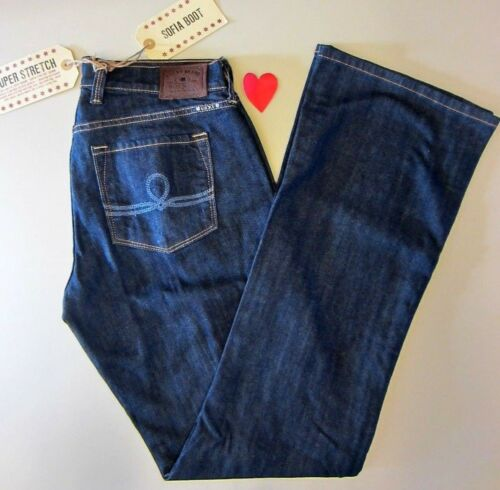 Lucky Jeans Women/'s 6//28 Long 7WD1740 SOFIA BOOT Dark Blue w//blue Stitch pockets