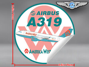 AMERICA-WEST-AIRLINES-AWE-AIRBUS-A319-ROUND-DECAL-STICKER