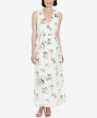 Lucky Brand Silk Floral-Print Maxi Dress Natural Multi______________ R7D1