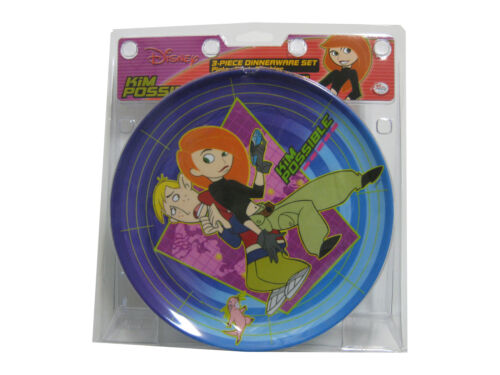 Kim Possible 3-Piece Dinnerware Set BRAND NEW