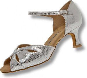 Details zu Diamant Tanzschuhe 144 077 246 Tanzschuhe Latein weiss silber Diamanttanzschuhe