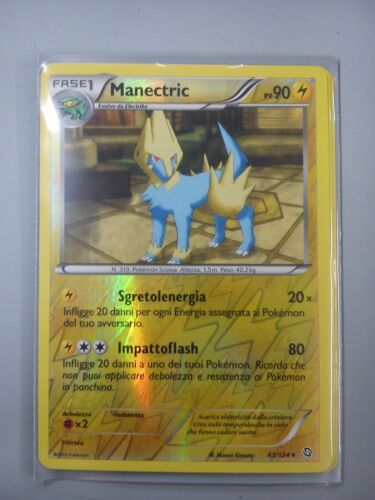 MANECTRIC 43//124 RARA FOIL HOLO REVERSE ITALIANA POKEMON STIRPE DEI DRAGHI