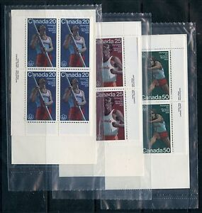Weeda Canada 664-666 VF mint NH M/S of PBs in sealed packs, Olympic issue CV $77