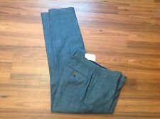 J.Crew Men's Thompson NWT slim suit dress pant in chambray Size 34/30 BLUE