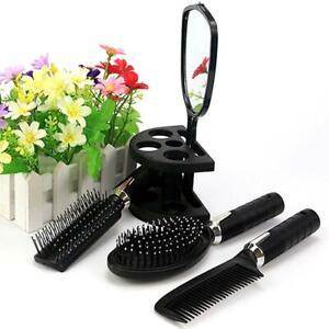 Hot-Hair-Dressing-Suit-Brush-Massage-Comb-Mirror-Holder-Set-Makeup-Tool-Women-GA