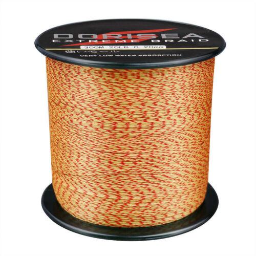 Dorisea Power 100M~2000M Yellow/&Red Mixed Spot PE Line Braided Fishing Line