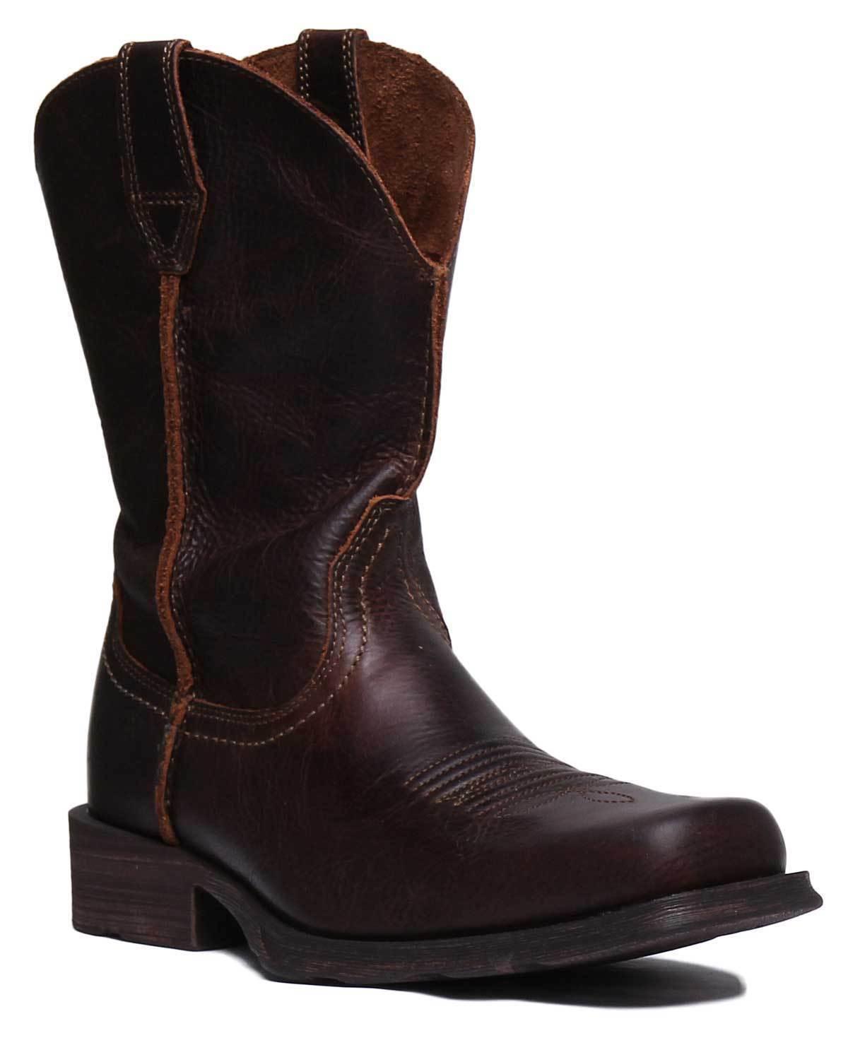 Ariat Rambler Men Leather Brown Knee High Western Boots UK Size 6 - 12