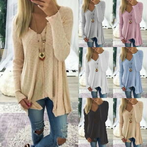 Women's Clothing Womens Long Sleeve Blouse Ladies Oversized Knit Jumper Pullover Tops Buy Now