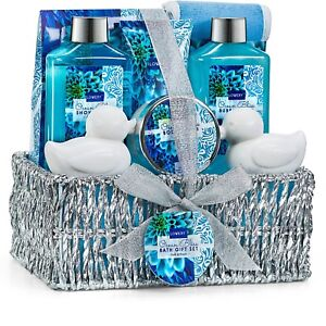 Spa Bath And Body Works Gift Basket Set Shower For Her Mom Him Women