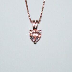 Rosa-Natural-Corte-Corazon-7mm-Morganita-Collar-con-Colgante-14k-Oro-sobre-925