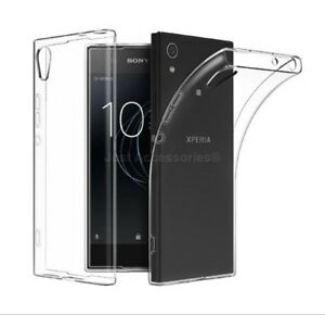 for Sony Xperia L1 Clear Ultra Slim GEL Case and Tempered Glass Screen Protector