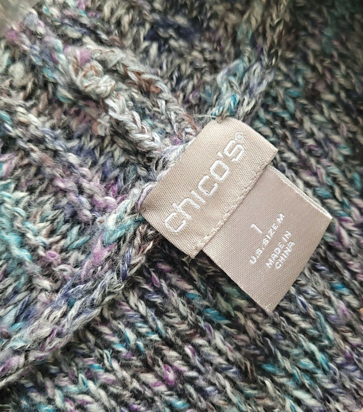 Chico's Chunky Knit Textured Sweater Open Front S… - image 6